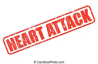 Heart Attack red stamp text on white