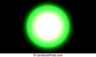 green circle light