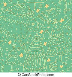 Cute seamless pattern with Christmas elements