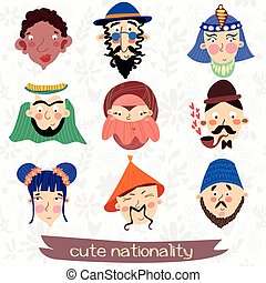 Nine nationalities: African, Jew,Muslim, Englishman, Korean...