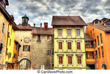 Buildings in the old town of Annecy - France
