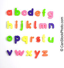 colourful fridge magnet alphabet letters