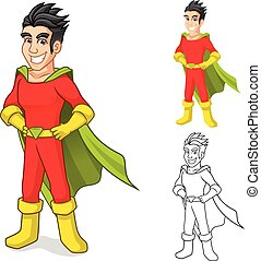 Super Hero Cartoon Character