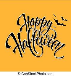 Happy Halloween message design background. Vector illustration