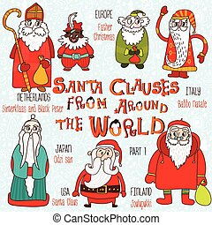 Christmas set - Santa Clauses from Around the World. Part...