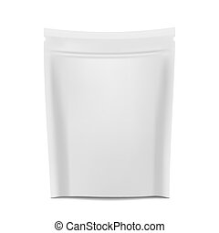 Blank Foil - White blank foil food or drink bag packaging...