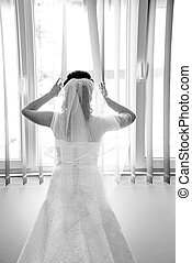 Looking for a groom - Bride on a window looking for a groom...