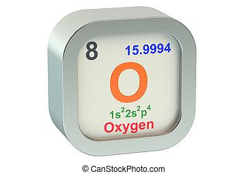 Oxygen element isolated on white background
