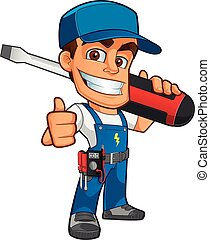 Electrician - Sympathetic electrician, he will dress in work...