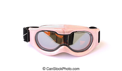 ski goggles - child\'s ski goggles isolated on a white...