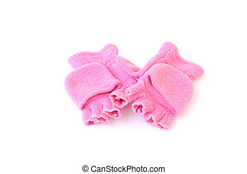 little girls gloves - pink gloves to fit a little girl...
