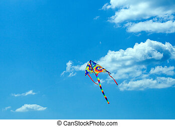 air serpent - Air serpent in blue sky background