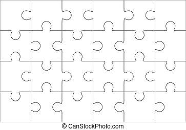 Jigsaw puzzle, twenty four pieces - Jigsaw puzzle blank...