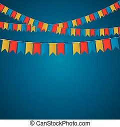 Festival flag banner vector