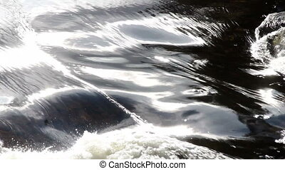 Silky water background - Flowing silky water close up