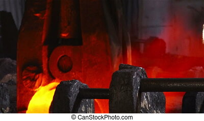 Capturing blank - Hot steel pouring in steel plant