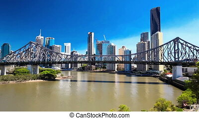 Panoramic view of Brisbane Skyline - BRISBANE, AUS -...