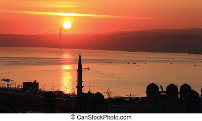 Beautiful Bosphorus at dawn, Turkey - Scenic sunrise view at...