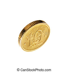 Swedish coin 10 crowns - Swedish coin 10 krona isolated on...