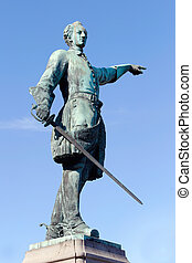 Karl XII Statue - Public statue of the Swedish king Karl XII...