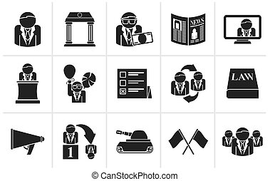election and political party icons - Black Politics,...