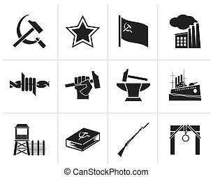 Communism and socialism icons - Black Communism, socialism...