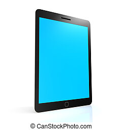 Stand tablet with blue screen