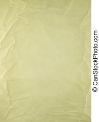 Yellow paper - Yellow old type paper, creases and wrinkles