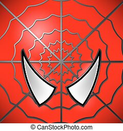 Superhero Icon. Mask - Superhero Red Icon. Mask Large Eyed...