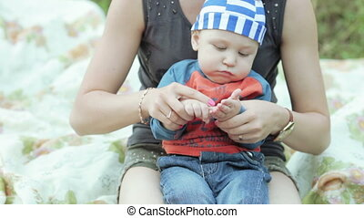 Baby on picnic