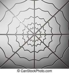 Spider Web on Grey Background Cobweb Grey Icon