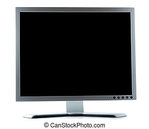 desktop computer screen isolated over white background