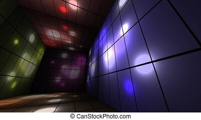 Disco Lights - A background animation with a box room and...