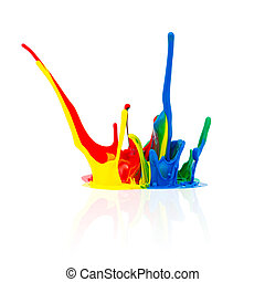 Colorful paint splashing - A splash of Colorful abstract...