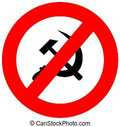 comunismo,  anti, sinal