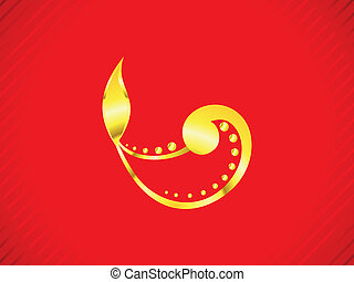 abstract golden diwali