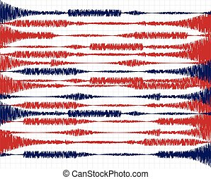 oscillations - Vector illustration on the theme of seismic...