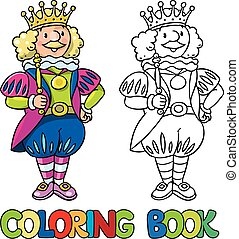 Fairy tale king. Coloring book - Coloring book or coloring...