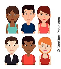 Young people cartoon theme, vector illustration