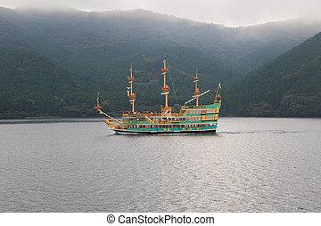 KANAGAWA TOKYO JAPAN-SEPTEMBER 10 : prirate sigh seeing boat...
