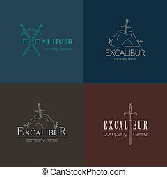 Excalibur outline Insignia and Logo - Excalibur outline...