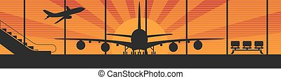 Flying airplanes banners