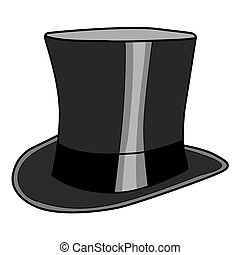 top hat - vector illustration of top hat for gentlemen