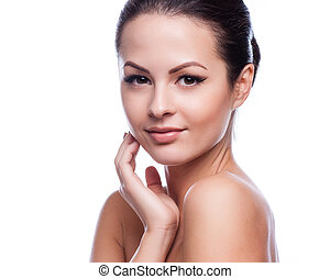 Beautiful face of young adult woman - Beautiful Young Woman...