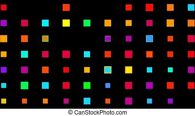 Color square matrix, high tech background