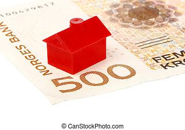 House on Norwegian banknote