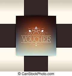 Exclusive gift voucher design. Simply glossy blur...