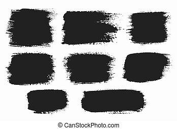 Grunge Backgrounds - Vector grunge brush strokes backgrounds...