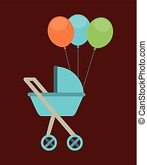 baby carriage design, vector illustration eps10 graphic