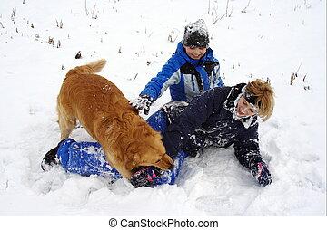 Fun on the snow